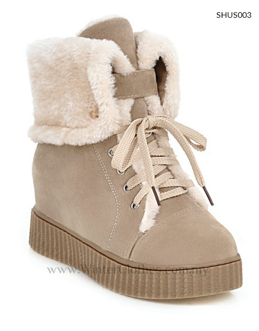 Unique Cute Winter Leather Women Boots 2014 Snow Platform Suede Boot For