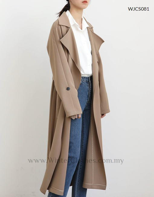 Korean Style Casual Long Trench Coat Winter Clothes