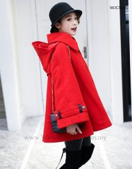 Wool Blended Winter Cape Casual Coat