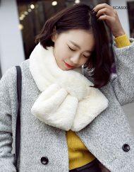 Easy Wear Winter Scarf Faux Fur