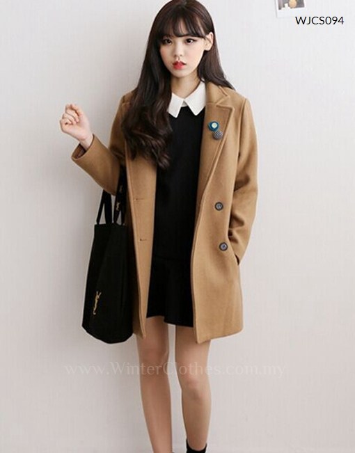 Korean Style Casual Short Trench Coat Winter Clothes
