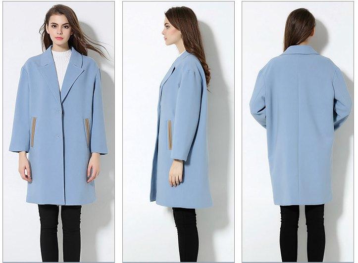 Women Plus Size Winter Coat Light Blue Winter Clothes