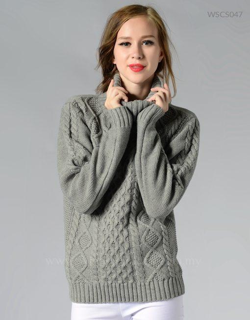 Women Fisherman Sweater Retro Classic Knitwear