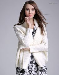 Women Open Knit Shawl Cardigan