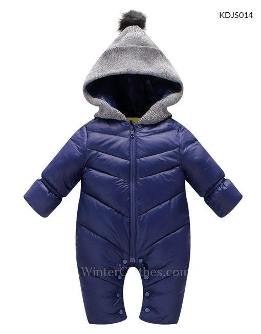 Baby Hooded Winter Romper