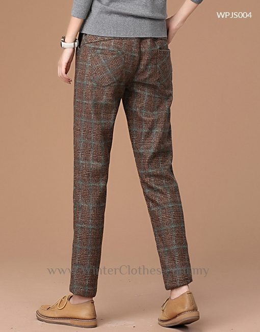 Women Hebridean Heather Fleece Lining Halem Design Winter Long Pants