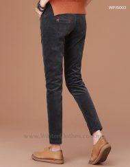 Women Winter Cords Pants Fleece Lining