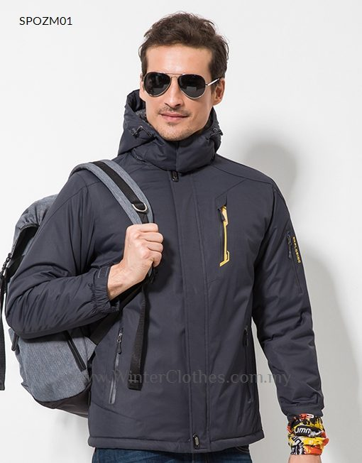 38c3295da8e62 Men Winter Sport Outdoor Activity Fleece Lining Sturdy Coat - Winter ...