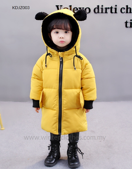 6bfcc3448173 Children Winter Jacket Cute Toddlers Cotton Padded Coat Hooded ...