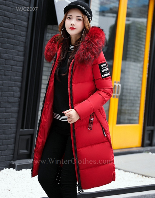 Winter Long Coat Knee Length Cotton Padded Jacket For Women Winter