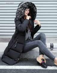 Winter Long Coat Knee Length Cotton Padded Jacket for Women