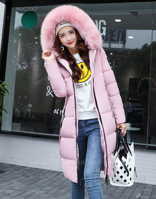 Winter Long Coat Knee Length Cotton Padded Jacket for Women