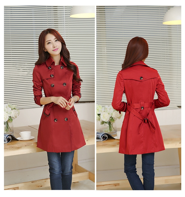 Women Classic Vintage Style Trench Coat