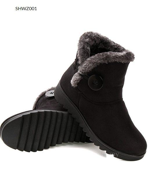 Women Winter Shoes Warm Fleece Lining Warm Boots - Winter Clothes 6995cb04a7da