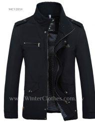 Men Winter Coat Stand Collar Smart Casual Jacket