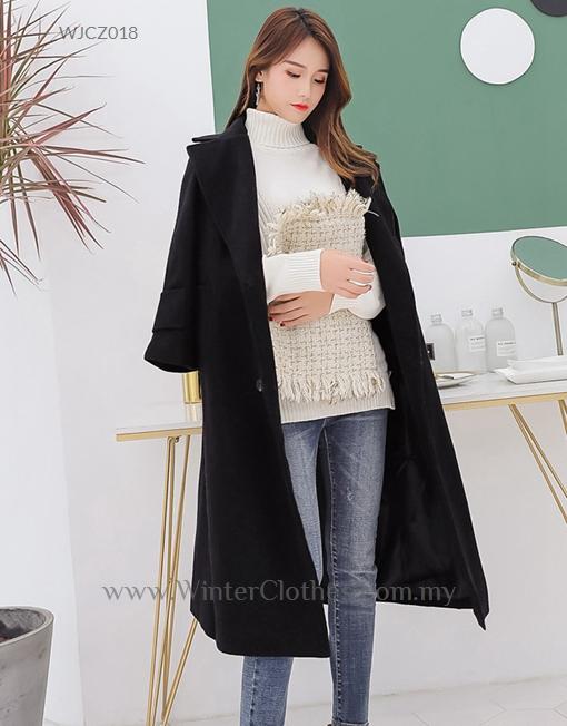 Women Plus Size Winter Long Trench Coat White Black 110kg Wearer ...