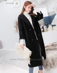 Women Plus Size Winter Long Trench Coat White Black 110kg Wearer
