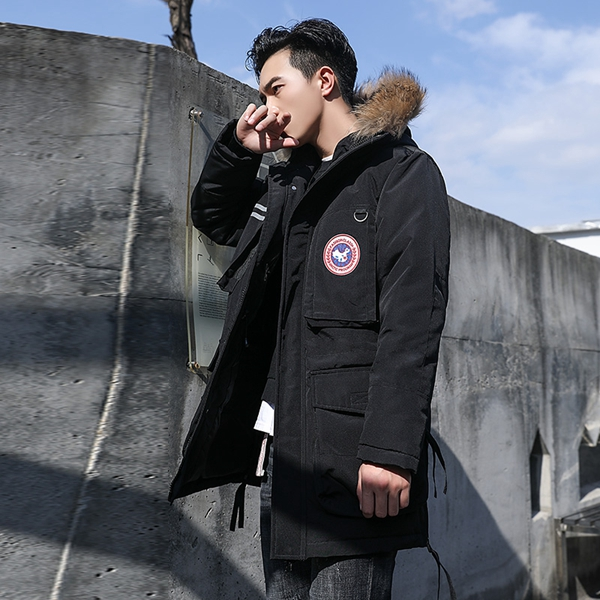 Winter Down Parka Mid Length For Couple Winter Jacket