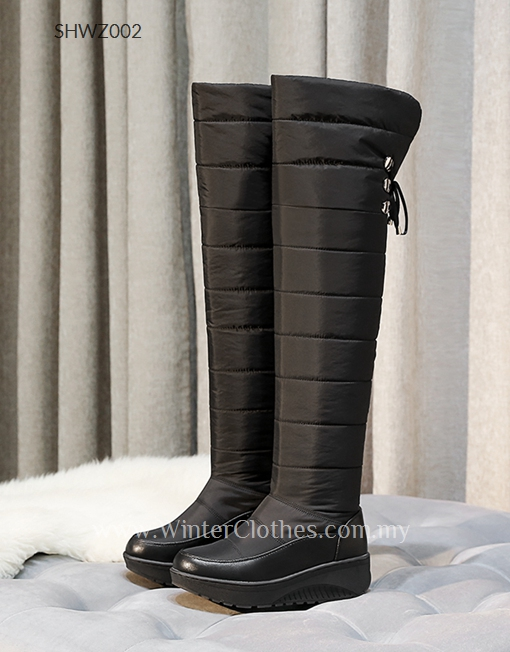 94246ab49 Women Winter Over Knee Long Boots Cotton Padded Fleece Lining