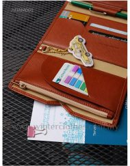 Multifunctional Soft PU Wallet for Passport Travel Documents