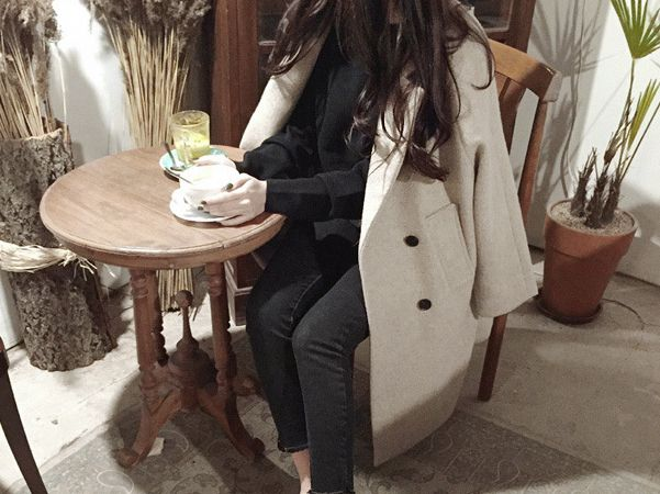 Korean Style Loose Coat Double Breasted Cotton Padded Winter Coat for Women