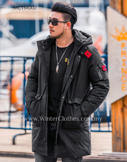 cheap 100% authenticated info for Men Plus Size Cotton Padded Mid Length Winter Coat