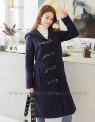 Women Duffle Coat with Big Hooded Korean Design Plus Size Coat