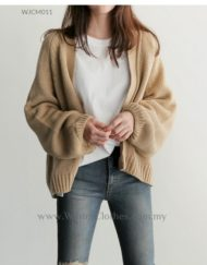 Women  3 Color Japanese Style Loose Cardigans Jacket