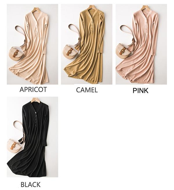 Women 4 Colors Free Size Cardigans Dress