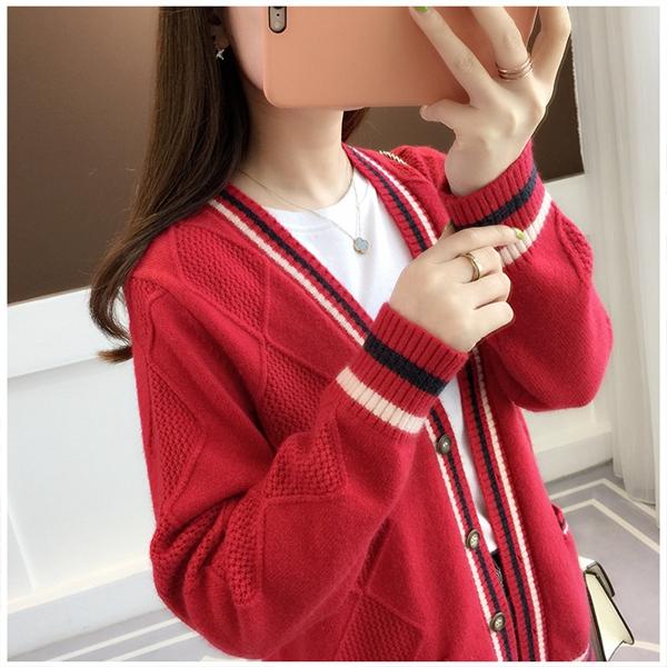Women 4 colors Plaid Front Closure Cardigans Jacket