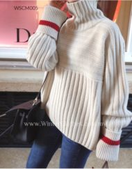 Women High Neck Oversize Lazy Style Sweater