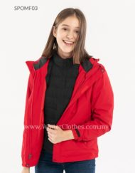 2019 Women Duck Down Plain Color Interchange Jacket