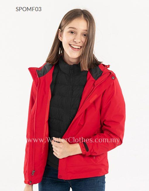 2019 Women Duck Down Plain Color Interchange Jacket