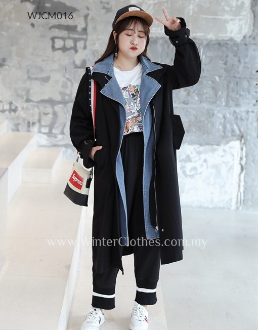 on sale best new style & luxury Women Plus Size Trench Coat Faux 2 Pieces Design