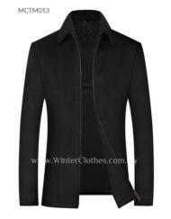 Men Senior Citizen Wool Blended Formal Winter Coat