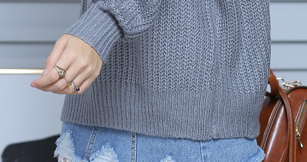 Women Cable Knit Jumper with Turtle Neck