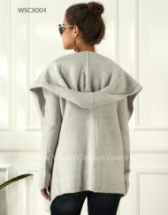 Women Easy Wear Open Front Mid Length Hooded Cardigan
