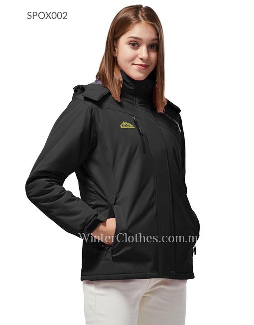 Women Fleece Lining Waterproof Venture Jacket