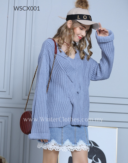 Women Loose V Neck Knitwear Cardigan