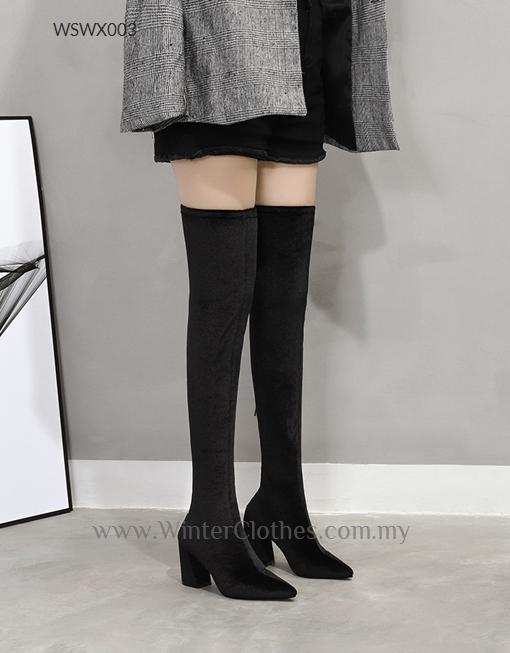 Women Over the Knee Block Heel Winter Fashion Boots