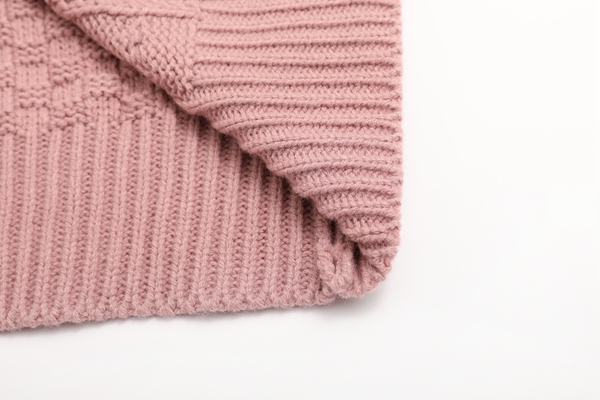 Women Fishermen Knit Wear Solid Color Round Neck Pullover