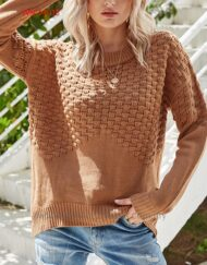 Women Regular Cut Knit Wear with Round Neck