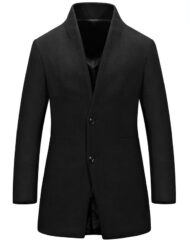 Formal Winter Wool Blended Single Breasted Trench Coat