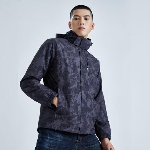 3-in-1 Waterproof Hiking Jacket with Fleece Inner for Men