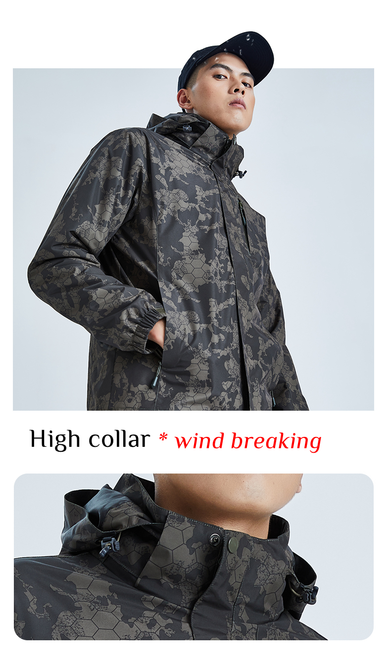 Waterproof  3-in-1 Hiking Jacket with Fleece Inner for Women
